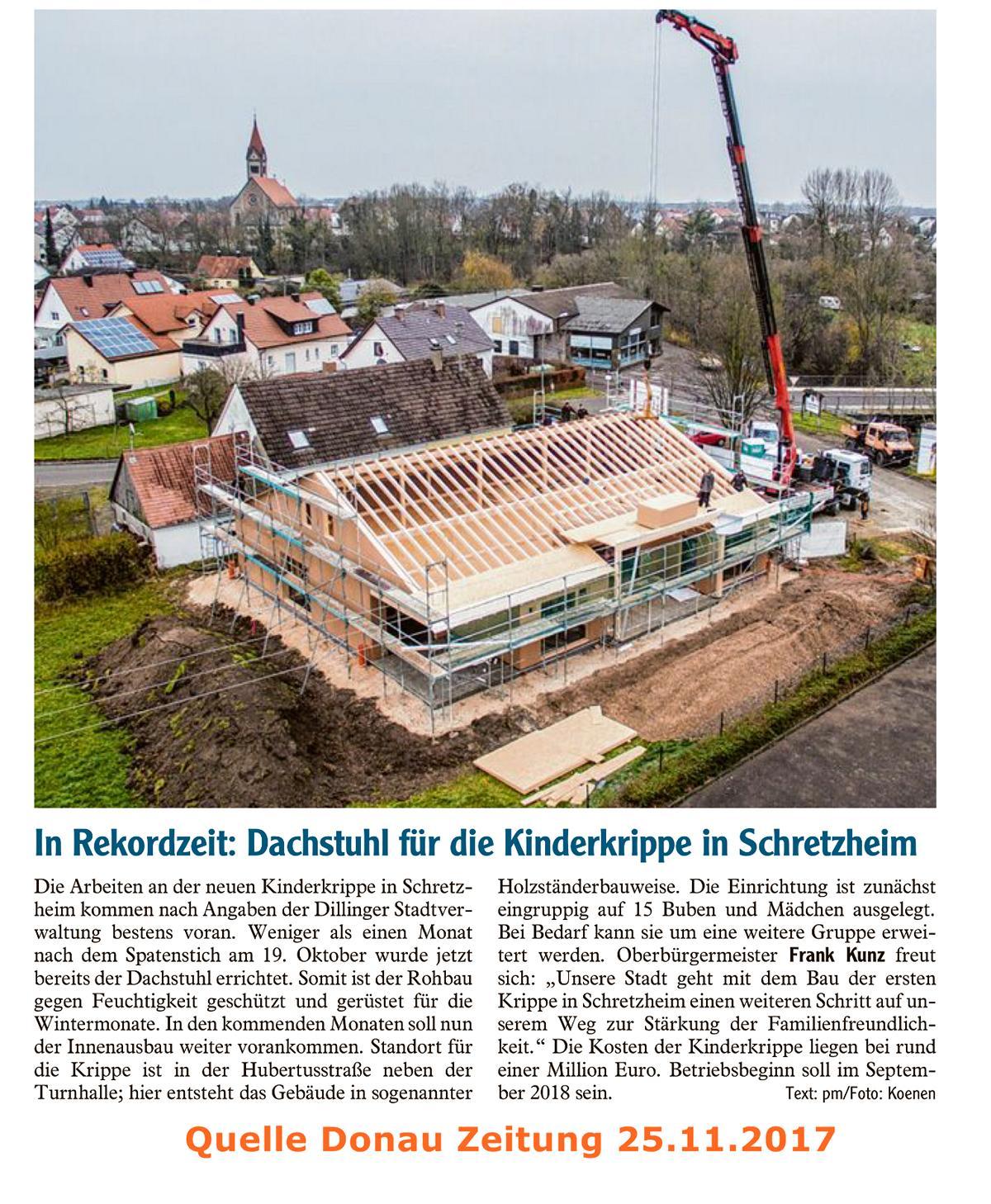 Kinderkrippe Schretzheim November 2017